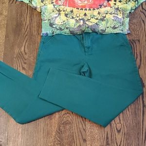 Merona green ankle pants